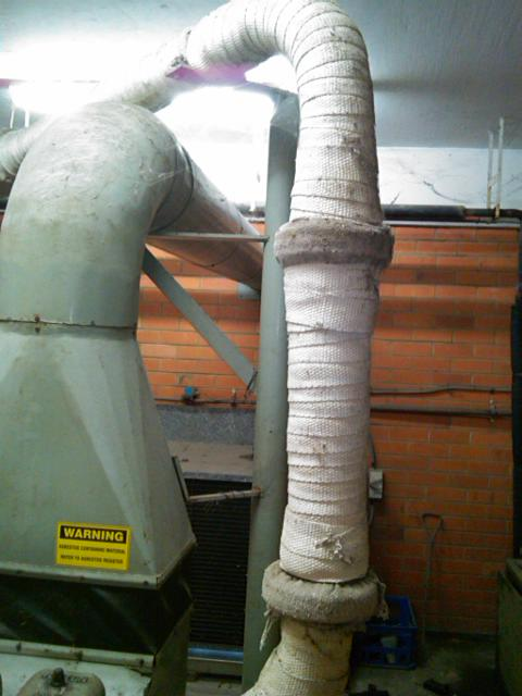 Generator Exhaust Lagging Contains Asbestos