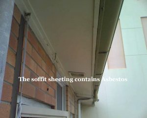 Soffit Sheeting Contains ACM