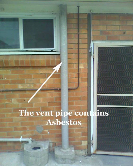 Vent Pipe Contains ACM